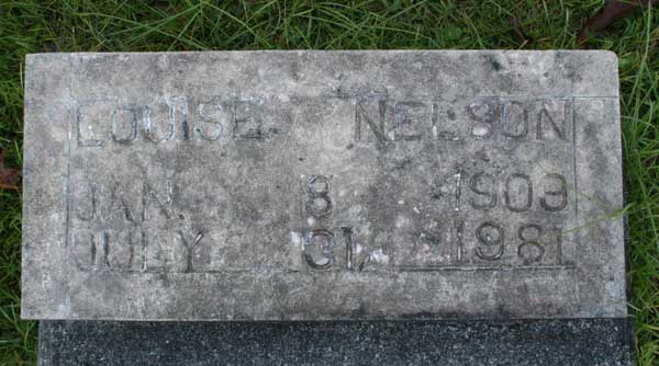 Louise Nelson Gravestone Photo