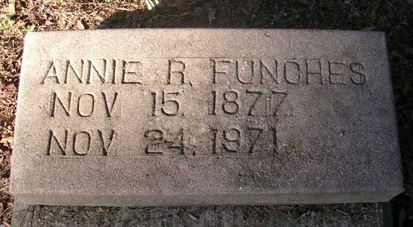 Annie R. Funches Gravestone Photo