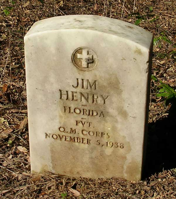 Jim Henry Gravestone Photo