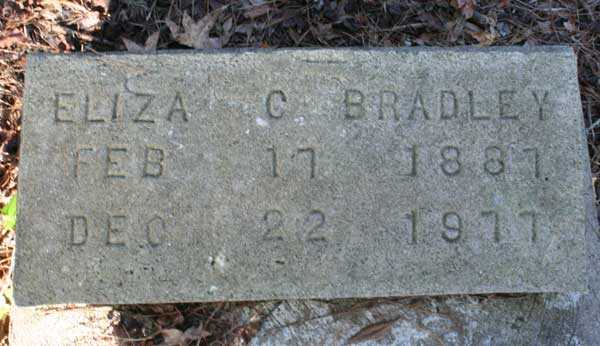 Eliza C. Bradley Gravestone Photo