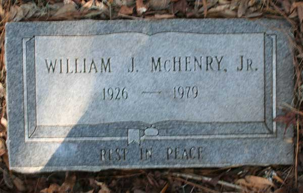 William J. McHenry Gravestone Photo
