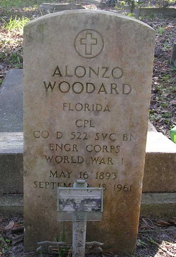 Alonzo Woodard Gravestone Photo