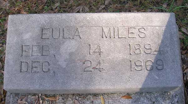 Eula Miles Gravestone Photo