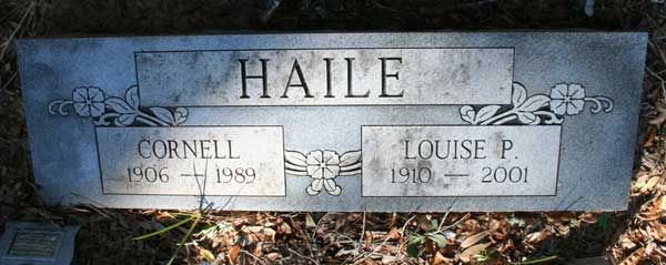 Cornell & Louise P. Haile Gravestone Photo