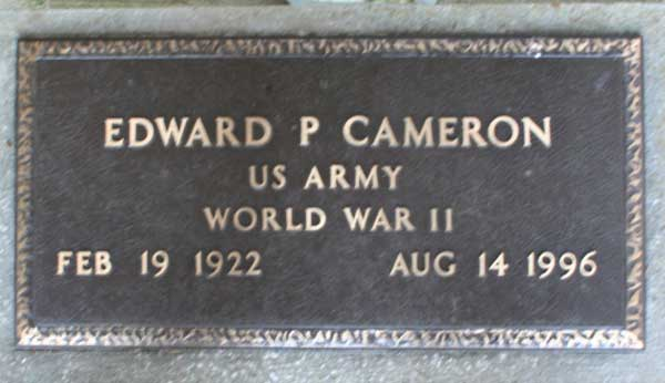 Edward P. Cameron Gravestone Photo