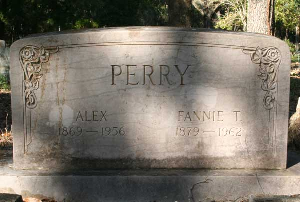 Alex & Fannie T. Perry Gravestone Photo