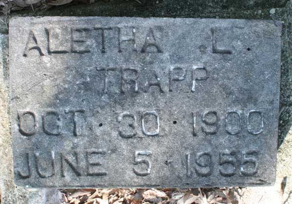 Aletha L. Trapp Gravestone Photo