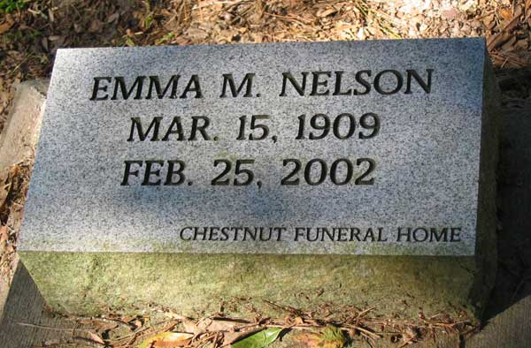 Emma M. Nelson Gravestone Photo