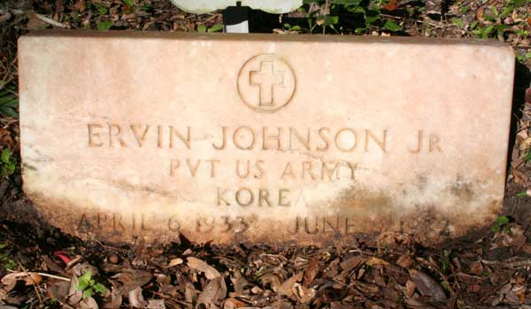 Ervin Johnson Gravestone Photo