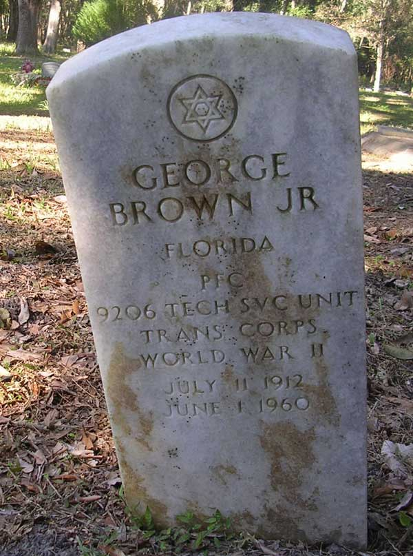 George Brown Gravestone Photo