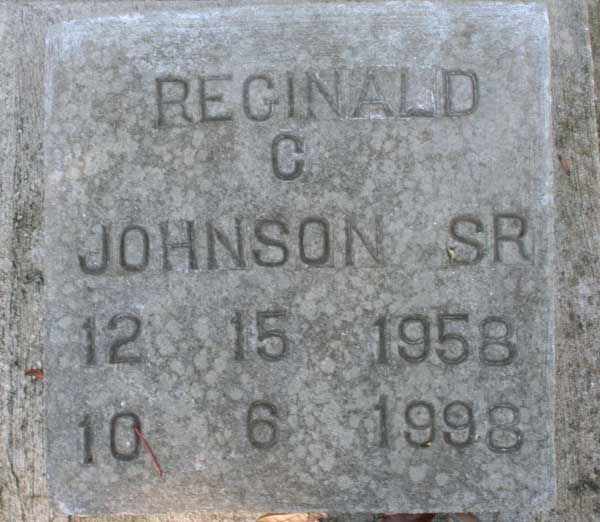 Reginald C. Johnson Gravestone Photo