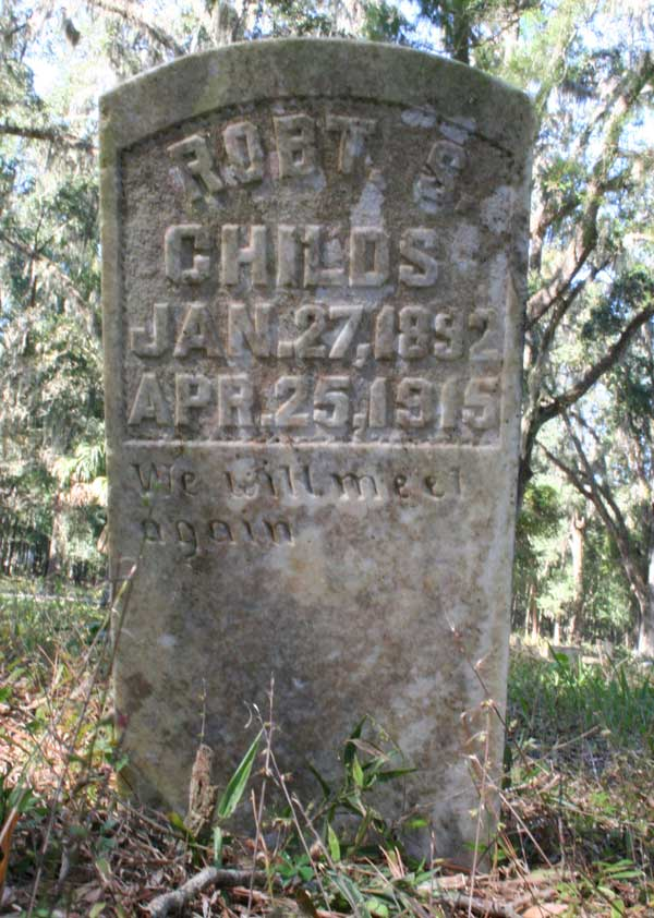 Robt S. Childs Gravestone Photo