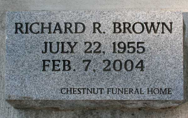 Richard R. Brown Gravestone Photo