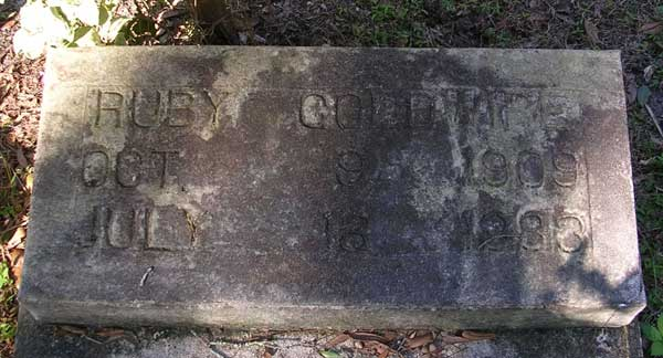 Ruby Goodwine Gravestone Photo