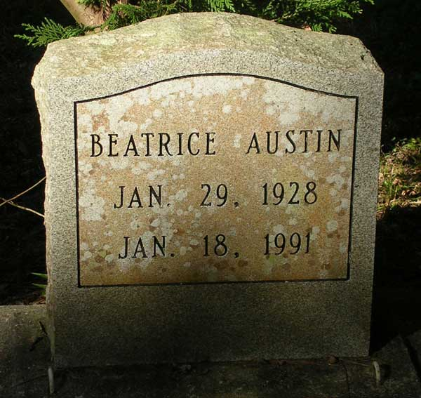Beatrice Austin Gravestone Photo
