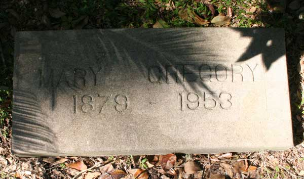Mary Gregory Gravestone Photo