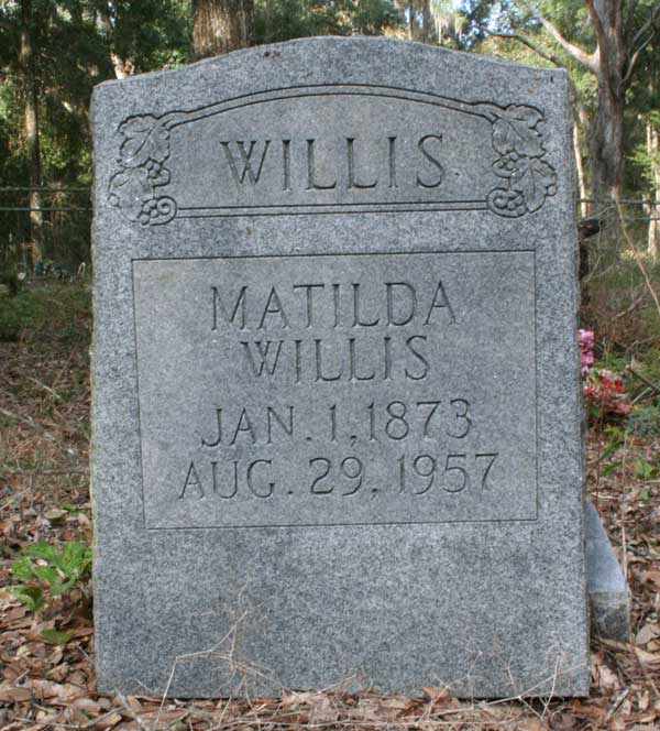 Matilda Willis Gravestone Photo
