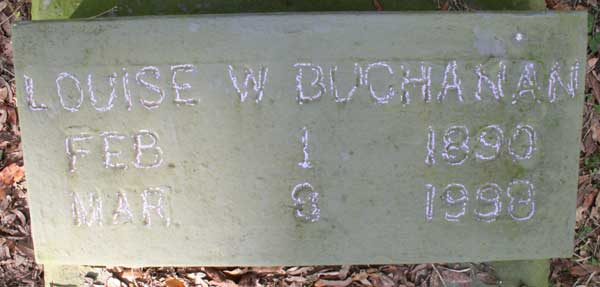 Louise W. Buchanan Gravestone Photo