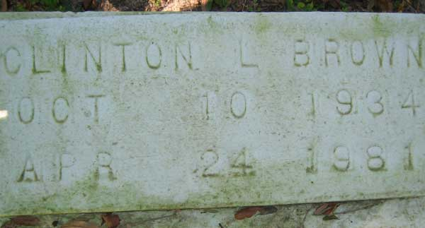 Clinton L. Brown Gravestone Photo