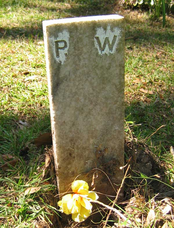 P.W. Unknown Gravestone Photo