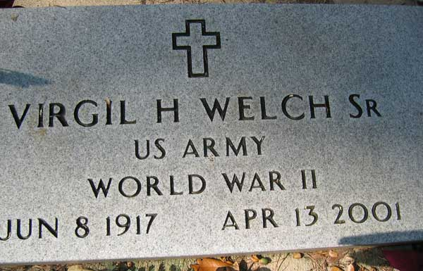 Virgil H. Welch Gravestone Photo