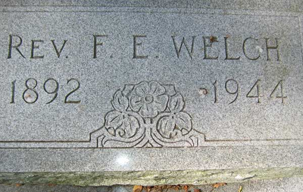 F.E. Welch Gravestone Photo