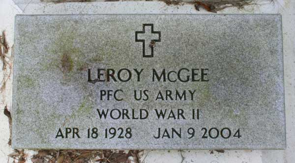 Leroy McGee Gravestone Photo