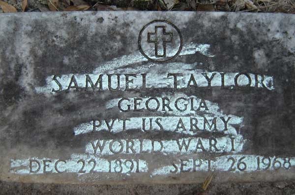 Samuel Taylor Gravestone Photo