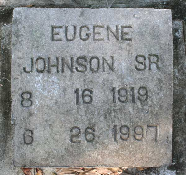 Eugene Johnson Gravestone Photo