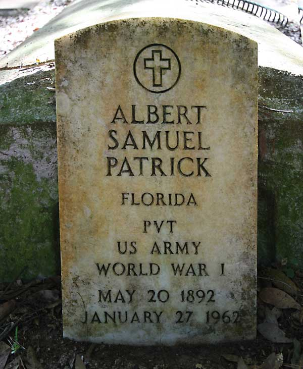 Albert Samuel Patrick Gravestone Photo