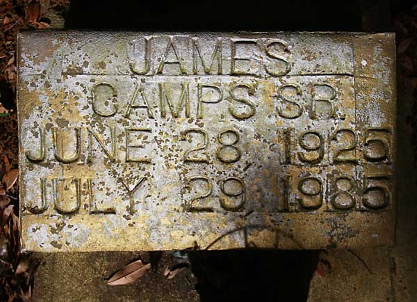 James Camps Gravestone Photo