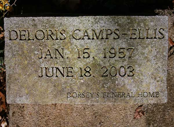 Deloris Camps-Ellis Gravestone Photo