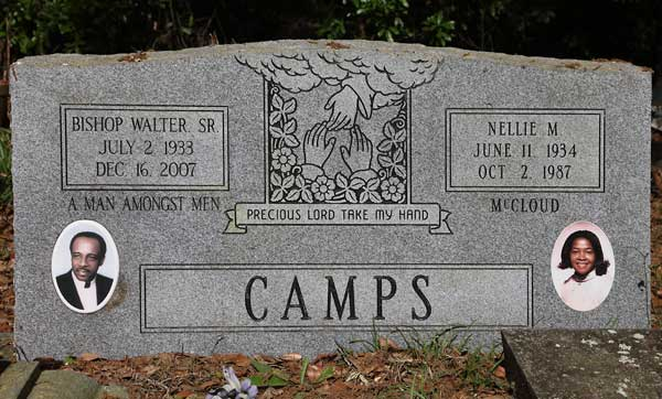 Bishop Walter Sr & Nellie M. Camps Gravestone Photo