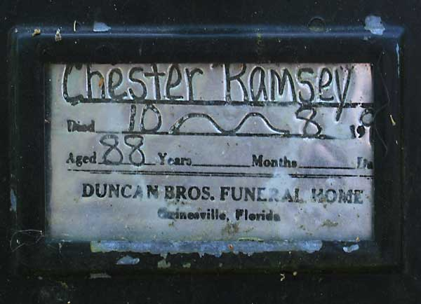 Chester Ramsey Gravestone Photo