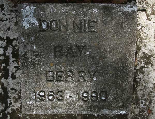 Donnie Ray Berry Gravestone Photo
