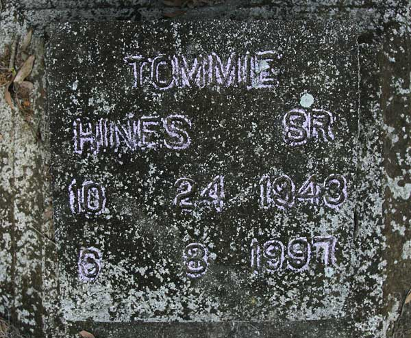 Tommie Hines Gravestone Photo
