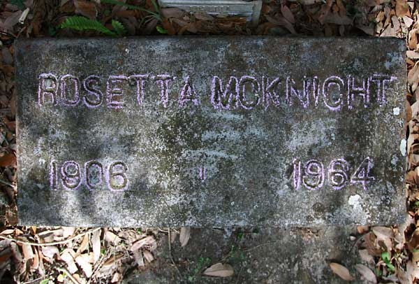 Rosetta McKnight Gravestone Photo