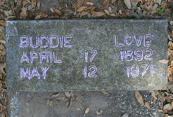 Buddie Love Gravestone Photo