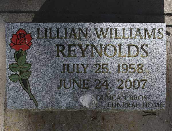 Lillian Williams Reynolds Gravestone Photo