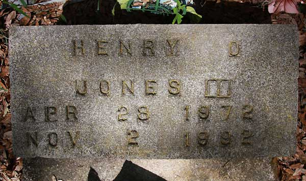 Henry O. Jones Gravestone Photo