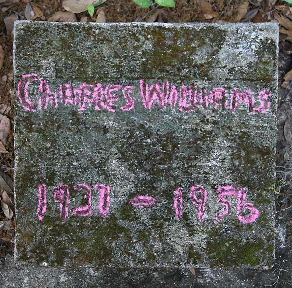 Charles Williams Gravestone Photo