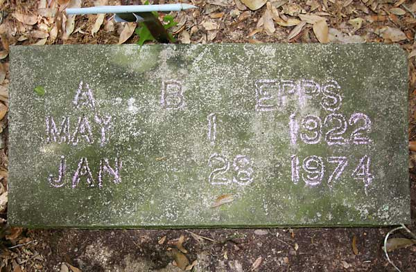 A. B. Epps Gravestone Photo