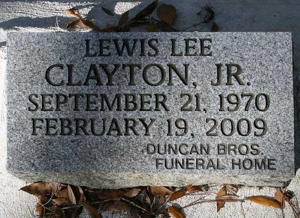 Lewis Lee Clayton Gravestone Photo