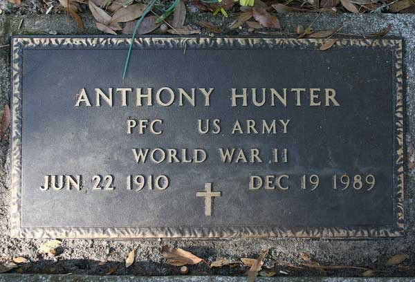 Anthony Hunter Gravestone Photo