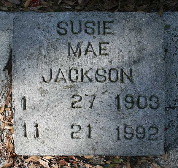 Susie Mae Jackson Gravestone Photo