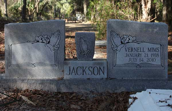 Vernell Mims Jackson Gravestone Photo