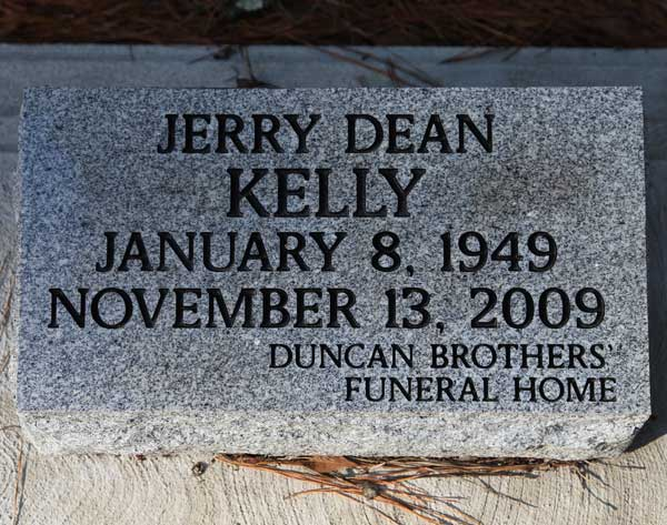 Jerry Dean Kelly Gravestone Photo