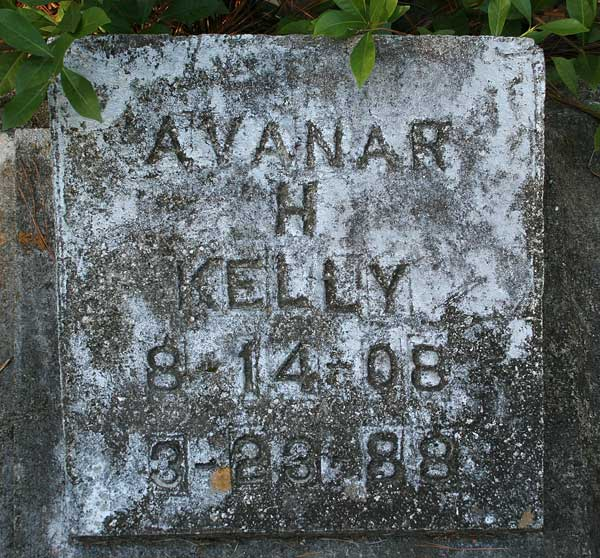 Avanar H. Kelly Gravestone Photo
