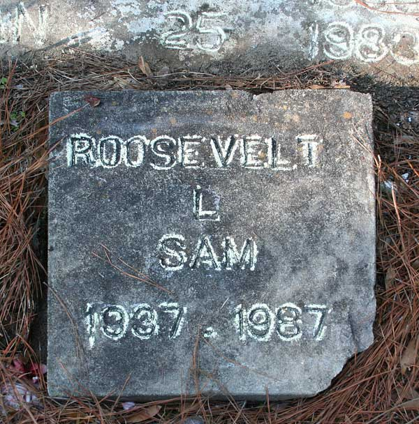 Roosevelt L. Sam Gravestone Photo