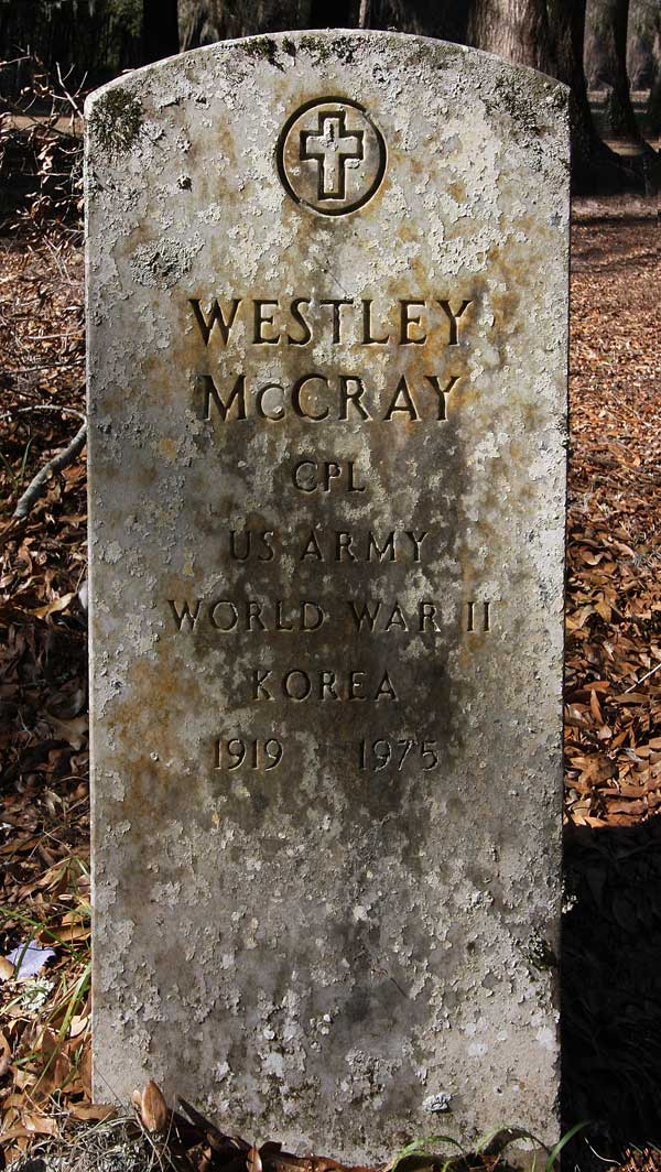 Westley McCray Gravestone Photo